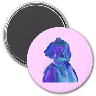 DivaFashionista in Blau I Kühlschrankmagnet