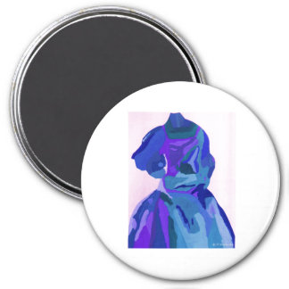 DivaFashionista in Blau I Kühlschrankmagnete