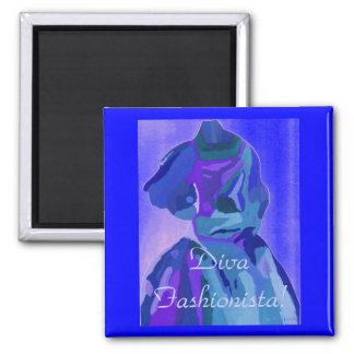 DivaFashionista in Blau I Magnets