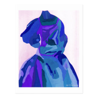 DivaFashionista in Blau I Postkarte
