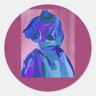 DivaFashionista in Blau I Runder Sticker