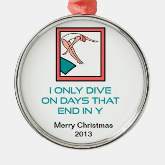 DiveChick Tage Silbernes Ornament