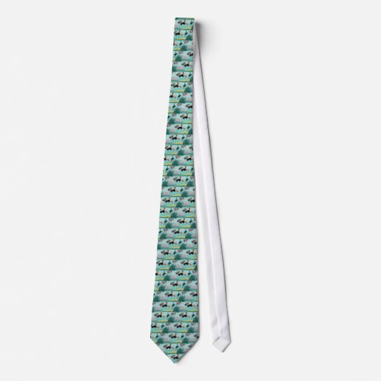 Diver/ norkel  tie -für Taucher..... Bedruckte Krawatte
