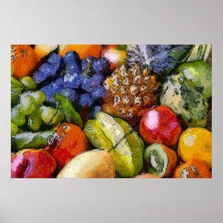 DIVERSE Früchte VARIOUS FRUITS VERSCHIEDENE FRÜCHT Poster