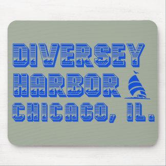 Diversey Hafen-Chicago-Boot Mousepad