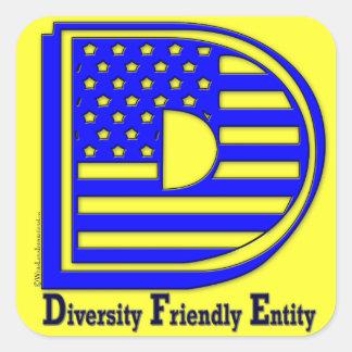 Diversity-freundliches Wesen Quadratischer Aufkleber