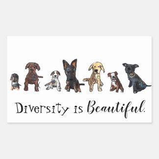 Diversity ist schön rechteckiger aufkleber