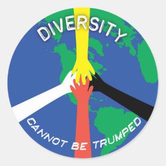 Diversity kann nicht Trumped - kleiner Aufkleber