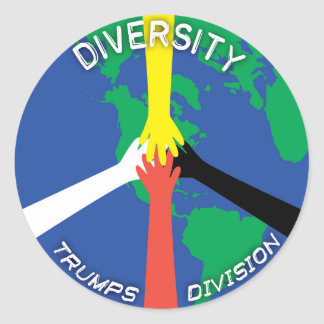 Diversity Trumps Abteilung - Aufkleber