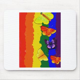 Diversityfeier mit Regenbogenfarben Mauspad