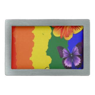 Diversityfeier mit Regenbogenfarben Rechteckige Gürtelschnallen