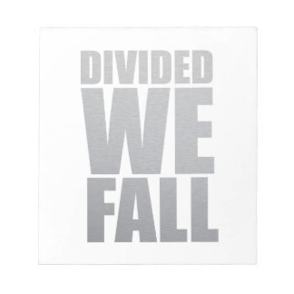 DIVIDED WE FALL NOTIZBLOCK