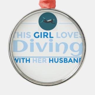 diving_husband silbernes ornament