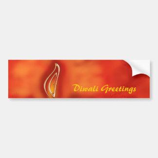 Diwali Devali helle Grüße - warmer Gruß-Karte Autoaufkleber