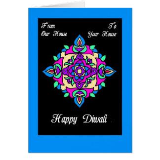 Diwali Gruß-Karte von unserem Haus zu Ihrem Karte
