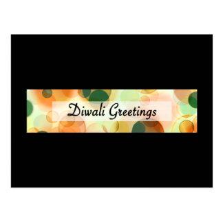 diwali Grüße (dunkles bokeh) Postkarte