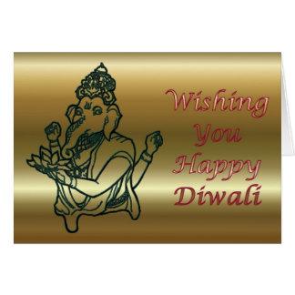 Diwali indisches Festival des Lichtes mit Ganesha Karte