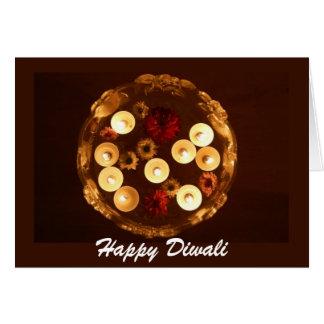 diwali sich hin- und herbewegende Kerzen Karte