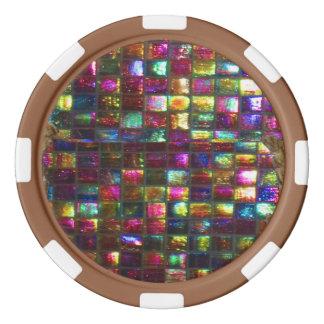 DIY 256 Rand-Farbwahlen Hintergrundes n Drop-Down Poker Chip Set