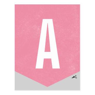 DIY Ballon-Fahnen-Buchstabe - Rose Postkarten