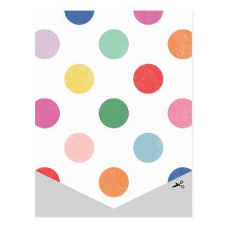 DIY Ballon-Fahnen-Distanzscheibe 2 Postkarte