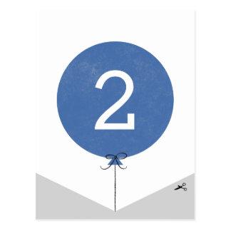 DIY Ballon-Fahnen-Enden-Platte - Kobalt Postkarten