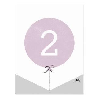 DIY Ballon-Fahnen-Enden-Platte - Lavendel Postkarte