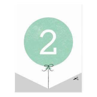 DIY Ballon-Fahnen-Enden-Platte - Minze Postkarte