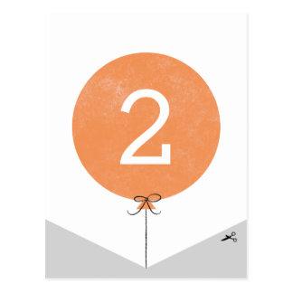 DIY Ballon-Fahnen-Enden-Platte - Orange Postkarte