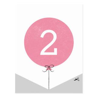 DIY Ballon-Fahnen-Enden-Platte - Rose Postkarten