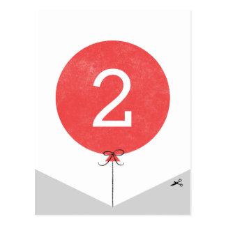 DIY Ballon-Fahnen-Enden-Platte - Rot Postkarte