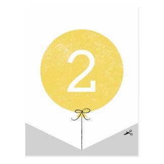 DIY Ballon-Fahnen-Enden-Platte - Zitrone Postkarte