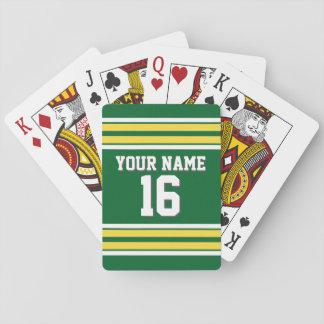 DIY BG grüner gelber kundenspezifischer Zahl-Name Spielkarten