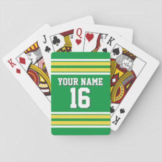 DIY BG Kelly gelber kundenspezifischer Zahl-Name Spielkarten