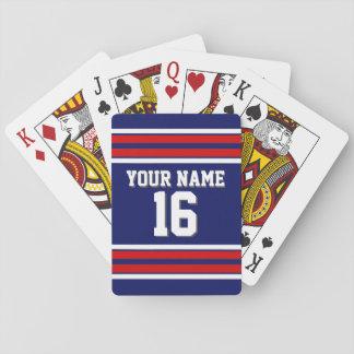 DIY BG kundenspezifischer Zahl-Name Marine-roter Spielkarten