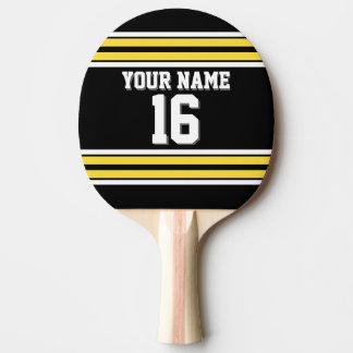 DIY BG schwarzer gelber kundenspezifischer Tischtennis Schläger