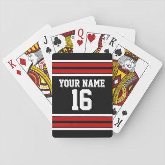 DIY BG Team-Jerseys Schwarzen roter weißer Spielkarten