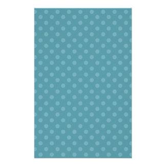 DIY Blau und Aqua-Tupfen-Hintergrund-Geschenkartik Briefpapier