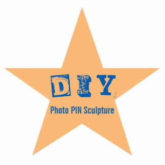 DIY - Button-Foto-Skulptur Fotoskulptur Button
