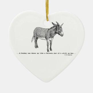 DIY DonkeyUnicorn ver2 Keramik Herz-Ornament