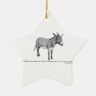 DIY DonkeyUnicorn ver2 Keramik Stern-Ornament