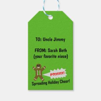 DIY Druck auf Weihnachtsgeschenk etikettiert - Geschenkanhänger