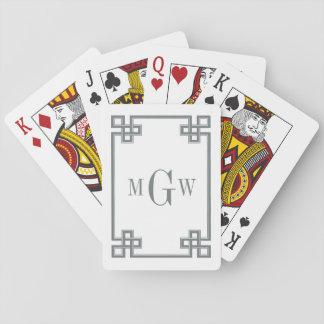 DIY Hintergrund-griechische extravagante Spielkarten