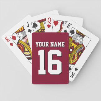 DIY Hintergrund trägt Jersey-Team Jersey Burgunder Spielkarten