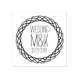 DIY Hochzeits-Monogramm-extravagante Gummistempel