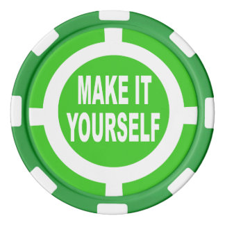 DIY machen es sich Grün und Weiß Poker Chip Sets