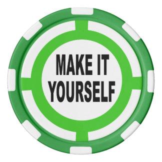 DIY machen es sich weiß und grün Poker Jetons