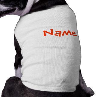 DIY Name - HundekleiderTrägershirt-Weiß Shirt
