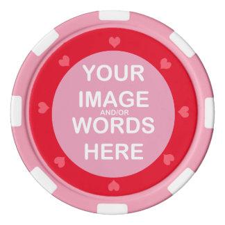 DIY ~ Poker bricht rosa Herzen ab Poker Chips Set