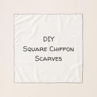DIY quadratische Chiffon- Schals
